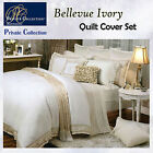 BELLEVUE Ivory Quilt Cover Set by Private Collection - QUEEN KING Super King