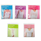 J25 LADIES WINTER WARM THERMAL UNDERWEAR T SHIRT BUILT UP STRAP VEST LONG JANE