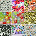 Charms Assorted Heart Coin Acylic Alphabet Letter Craft Spacer Beads DIY Jewelry