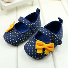 Mary Jane Style Toddler Baby Girl Polka Dot Soft Sole Shoes Size 0-12 Months
