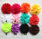 Baby Girls DIY 4inch Flowers Eyelet chiffon hole lace Hair flower flat back