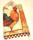 3 PC Kitchen Towel Set Microfiber 4 Styles Italy England Rooster or Fruit