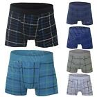 New Mens Cotton Check Boxer Shorts Trunks Boxers Novelty Underwear Size S M L XL