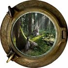 Huge 3D Porthole Enchanted Forest View Wall Stickers Mural Art Decal Wallpaper