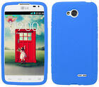 BLUE Silicone Case Skin Gel Cover for LG Optimus L70