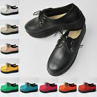 LOVELY GRILS LADIES WOMENS PLATFORM LACE UP FLATS CREEPERS PUNK SHOES AU 3.5-8.5