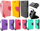 For T-Mobile Alcatel ONETOUCH Evolve Leather 2 Tone Wallet Case Pouch Flip Cover