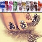 5pcs Multi-color Dot Feather Plume Nail Art Stickers Decals UV Gel Tips Decorate