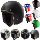 LS2 OF583 Low Profile Fibreglass Open Face Motorbike Motorcycle Helmet Bobber