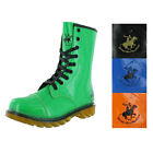 Beverly Hills Polo Club Women's Faux Patent Combat Boots Rain