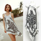 Unique Fashion Crochet Straps Asymmetrical Hem Mini Dress Bikini Cover Up UL224