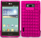 HOT PINK TPU Protector Gel Case for LG Optimus Select AS730