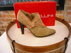 Bellini El Paso Brown Denim & Suede Ankle Shootie Pump NEW