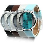 Womens/Mens Leather Quartz Wrist Watch Hot New Style Watches Stainless Steel