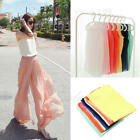 New Women Chiffon Sleeveless Shirt Blouse Vest Tank Tops Waistcoat Candy Color