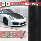 3D Black Carbon Fiber Twill Vinyl Wrap Roll Bubble Free Air Release - Custom Cut