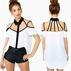 New Hot Women Sexy Off-shoulder Loose Tops Fashion Casual T-Shirt Blouse White