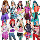 Monster High Girls Fancy Dress Halloween School Kids Childrens Costumes Outfits