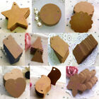 100pcs Brown Hand Draw Tags Blank Kraft Paper Marked Blank Card Labeled Card