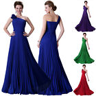 Mermaid One Shoulder Wedding Bridesmaid Homecoming Dress Prom Party Gown Formal