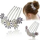 Rhinestone Bridal Hairpin Flower Comb Crystal Hair Clips Barrette Hairband ItS7