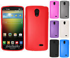 For LG Lucid 3 VS876 TPU CANDY Hard Flexi Gel Skin Case Cover + Screen Protector