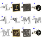 Letter L & Letter M Silver Black Antique Brass Round Square Mens Cufflinks Gift