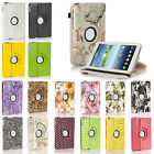 Rotating Multi Pattern PU Leather Case For Samsung Galaxy Tab 3 7.0 8.0 10.1