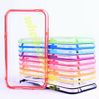 TPU Plastic Clear Frame Bumper Slim Side Protector Case Cover For Various Phones