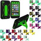 For Apple iPod Touch 4th Generation 4G Hybrid Heavy Duty Rugged Case Cover Stand