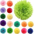 New 5PC Tissue Paper Pom Poms Flower Balls Wedding Decoration Party Baby Shower