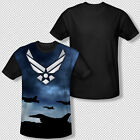 New United States Air Force Logo Symbol All Over Front Sublimation T-shirt Top