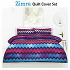 ZIMRA Plum Microfibre Quilt Cover + Pillowcase(s) Set - SINGLE DOUBLE QUEEN KING