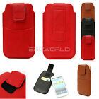 LEATHER CARD POCKET POUCH SAMSUNG GALAXY S4 S3 BELT LOOP i9500 i9300 CASE COVER