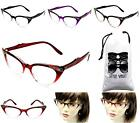 WM16-VP(OMB) Rhinestone Translucent Fade Clear Lens Eyeglasses Sunglasses +Pouch