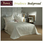 Prudence Cream Jacquard Bedspread+P/case(s) SINGLE King Single DOUBLE QUEEN KING