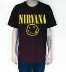 UNISEX NIRVANA SMILEY T-SHIRT MENS WOMENS BAND T SHIRT ROCK TEE KURT COBAIN