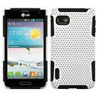 LG Optimus F3 MS659 Metro T-Mobile Hybrid Mesh Case Skin Cover