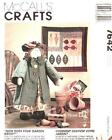 """MCCALL'S PATTERN 7642 CRAFT DOLL & QUILT How Does Your Garden Grow?"""""""