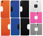 For Sony Xperia Z1S Premium Leather 2 Tone Wallet Case Pouch Flip Cover