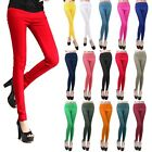 Women Slim Candy Color Stretch High Waist Pencil Pants Leggings Tights Trousers