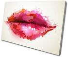 Fashion Lips  SINGLE CANVAS WALL ART Picture Print VA