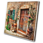 Vintage Mediterranean  SINGLE CANVAS WALL ART Picture Print VA