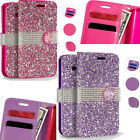 TMobile LG Optimus L90 Bling Diamond Wallet Case Flip Pouch Cover + Screen Guard
