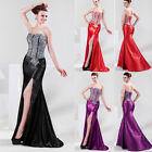 Gorgeous Split Beads Bridesmaid Party Formal Cocktail Evening Prom Gown Dress GK