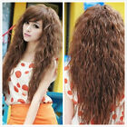 Sexy 3 Color Girl long Curly Wavy Heat Resistant Hair Cosplay Costume  Full Wig