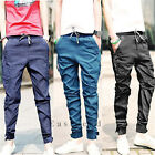 Casual Men Harem Pants Trousers Tapered Drop Crotch Cuffed Jogger Hot Sale