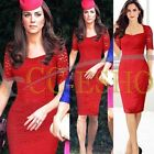 Women Vintage Elegant Crochet Lace Bodycon Cocktail Party Tunic Sheath Dress NEW