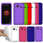 For HTC DROID Incredible 4G LTE ADR6410L Color SILICONE Soft Gel Skin Case Cover