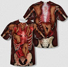Skinny Meat Muscle Skeleton Flesh Zombie Costume All Over Print Youth Tshirt Top